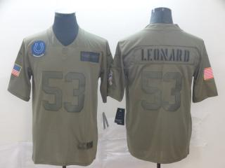 Indianapolis Colts 53 Darius Leonard  Football Jersey New Salute to Service
