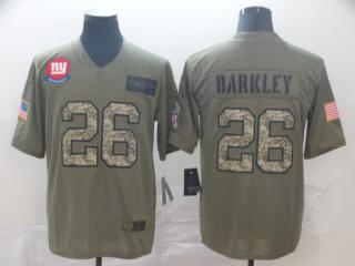 New York Giants 26 Saquon Barkley Football Jersey New Salute to Service Camo