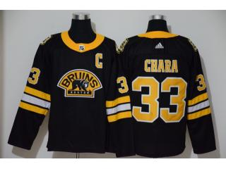 Adidas Classic Boston Bruins 33 Zdeno Chara Ice Hockey Jersey Black