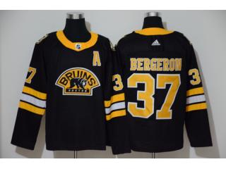 Adidas Classic Boston Bruins 37 Patrice Bergeron Ice Hockey Jersey Black