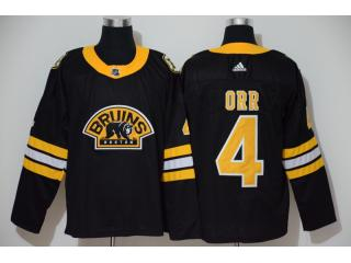 Adidas Classic Boston Bruins 4 Bobby Orr Ice Hockey Jersey Black