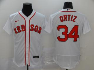 Nike Boston Red Sox 34 David Ortiz Flexbase Baseball Jersey White