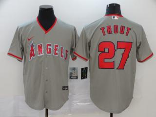 Nike Los Angeles Angeles 27 Mike Trout Baseball Jersey Gray Fan