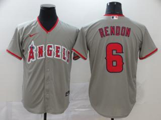 Nike Los Angeles Angeles 6 Anthony Rendon Baseball Jersey Gray Fan