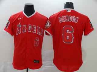 Nike Los Angeles Angeles 6 Anthony Rendon Flexbase Baseball Jersey Red Fan