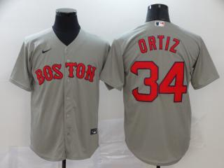 Nike Boston Red Sox 34 David Ortiz Baseball Jersey Gray Fan