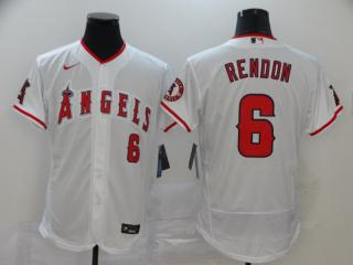 Nike Los Angeles Angeles 6 Anthony Rendon Flexbase Baseball Jersey White