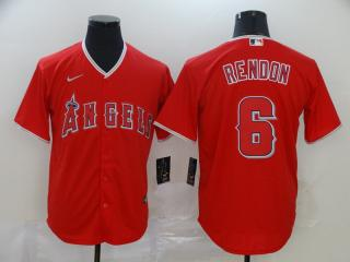 Nike Los Angeles Angeles 6 Anthony Rendon Baseball Jersey Red Fan