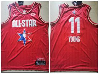 2020 Chicago all star Jordan Atlanta Hawks 11 Trae Young Basketball Jersey Red