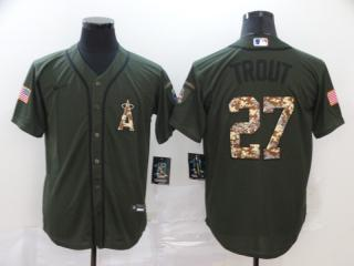 Nike Los Angeles Angeles 27 Mike Trout Baseball Jersey Green Fan