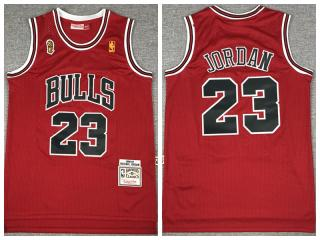 96-97 champion Chicago Bulls 23 Michael Jordan Basketball Jersey Red Retro