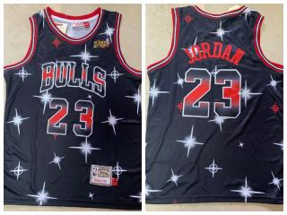 Chicago Bulls 23 Michael Jordan Basketball Jersey Black Star version
