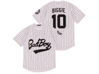Bad Boy Movie Baseball Jerseys 10 Biggie Throwback Authentic Stitched High Quality Free Shipping Bas...