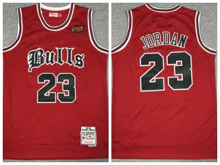 Chicago Bulls 23 Michael Jordan Basketball Jersey Red Old England retirement Limited Edition