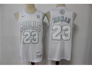 Chicago Bulls 23 Michael Jordan Basketball Jersey White regular season MVP Limited Edition