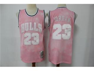 Chicago Bulls 23 Michael Jordan Basketball Jersey Pink differentiation printing Limited Edition Retr...