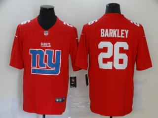 New York Giants 26 Saquon Barkley Football Jersey Legend Red Team logo fashion