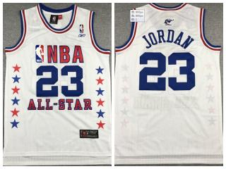 89 all star Chicago Bulls 23 Michael Jordan Basketball Jersey White Retro