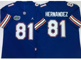 Florida Gators 81 Aaron Hernandez College Football Jersey Blue