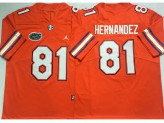 Florida Gators 81 Aaron Hernandez College Football Jersey Orange