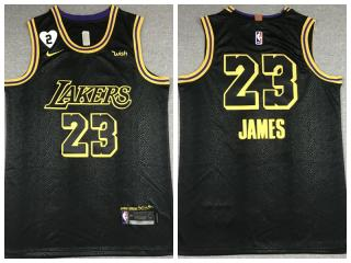 Nike Los Angeles Lakers 23 LeBron James Basketball Jersey Black City Edition