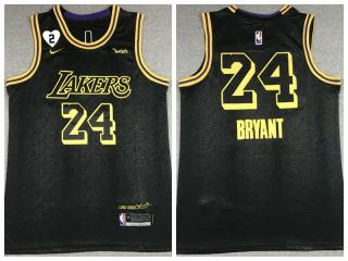Nike Los Angeles Lakers 24 Kobe Bryant Basketball Jersey Black city edition