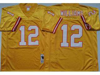 Tampa Bay Buccaneers 12 Doug Williams Football Jersey Yellow Retro