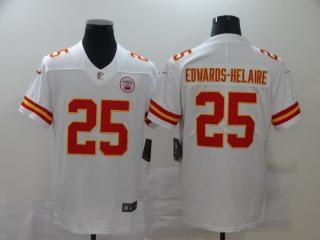 Kansas City Chiefs 25 Clyde Edwards-Helaire Football Jersey Legend White