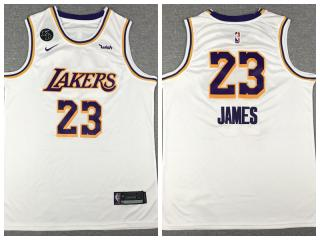 Nike Los Angeles Lakers 23 LeBron James Basketball Jersey White