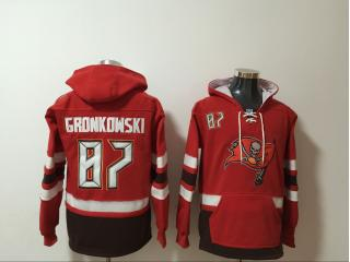 Tampa Bay Buccaneers 87 Rob Gronkowski Hoodies Football Jersey Red