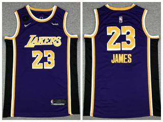 Nike Los Angeles Lakers 23 LeBron James Basketball Jersey purple
