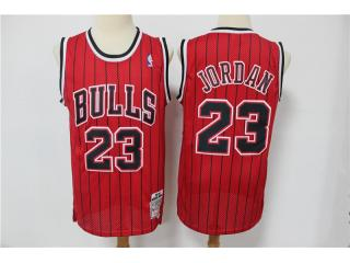 Chicago Bulls 23 Michael Jordan Basketball Jersey Classic retro with red and black stripes