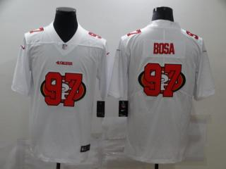 San Francisco 49ers 97 Nick Bosa Football Jersey Legend White shadow
