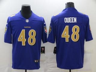 Baltimore Ravens 48 Patrick Queen Football Jersey Limited Purple