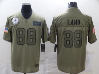 Dallas Cowboys 88 CeeDee Lamb Football Jersey New Salute to Service