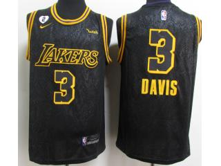 Nike Los Angeles Lakers 3 Anthony Davis Basketball Jersey Black City Edition