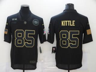 San Francisco 49ers 85 George Kittle Football Jersey Legend Salute the black