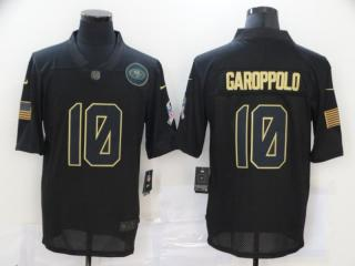 San Francisco 49ers 10 Jimmy Garoppolo Football Jersey Legend Salute the black