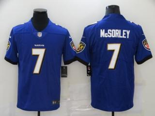 Baltimore Ravens 7 Trace McSorley Football Jersey Limited Purple