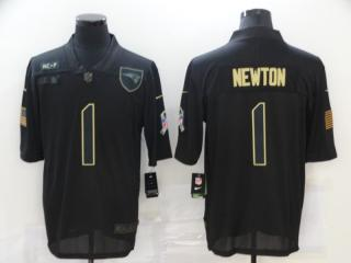 New England Patriots 1 Cam Newton Football Jersey Legend Salute the black
