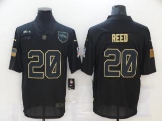 Baltimore Ravens 20 Ed Reed Football Jersey Legend Salute the black