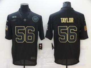New York Giants 56 Lawrence Taylor Football Jersey Legend Salute the black