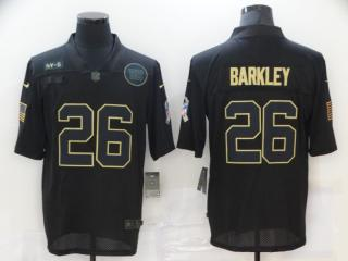 New York Giants 26 Saquon Barkley Football Jersey Legend Salute the black
