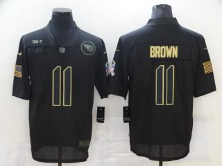 Tennessee Titans 11 A.J. Brown Football Jersey Legend Salute the black